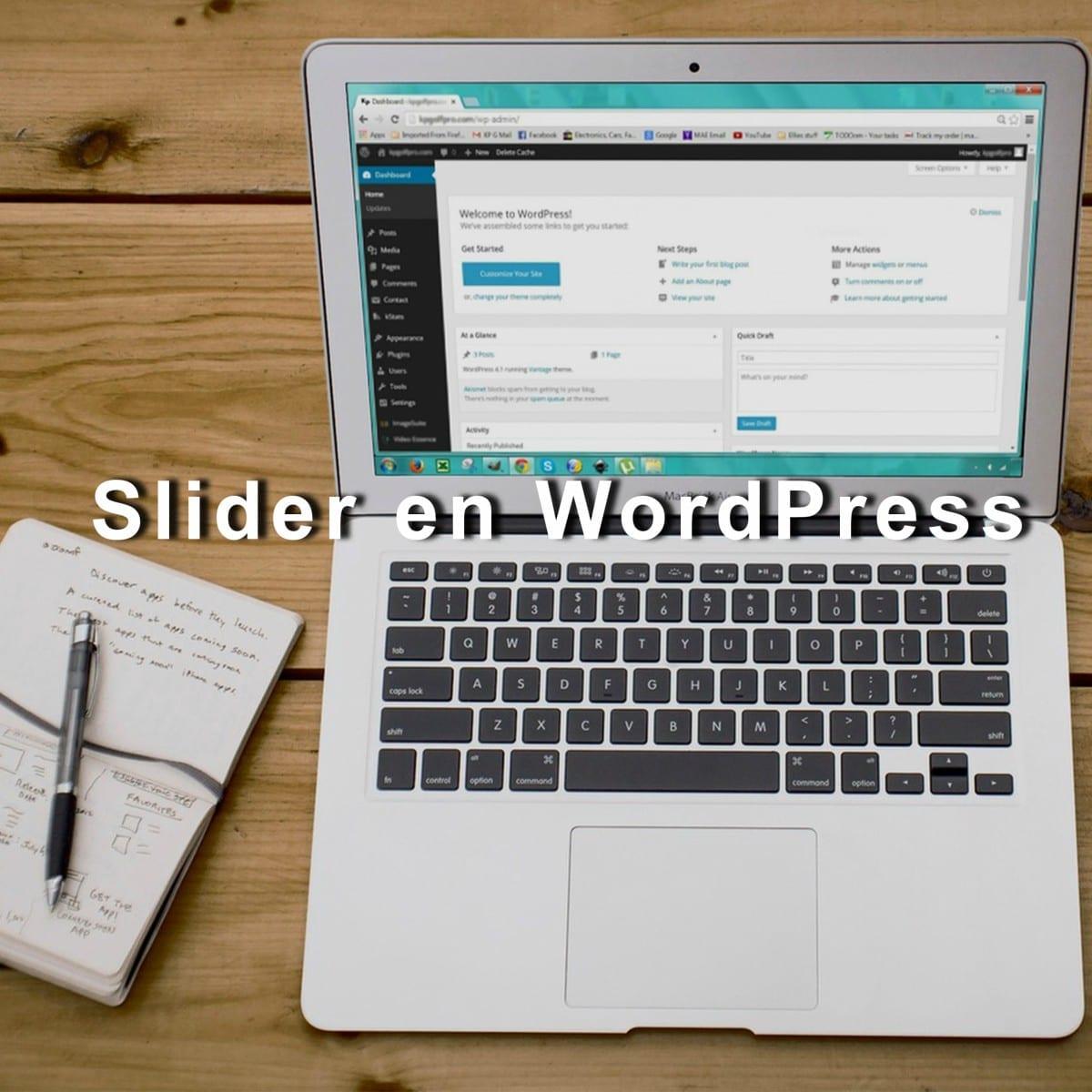 como agregar un slider en wordpress