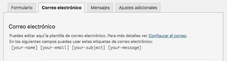 contact form 7- correo electrónico