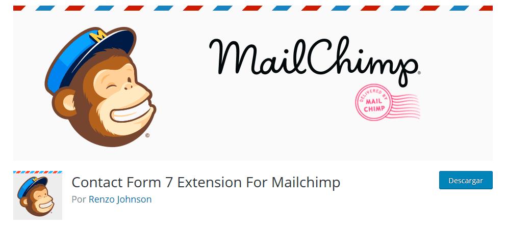 mail chimp- plugin para contact form 7