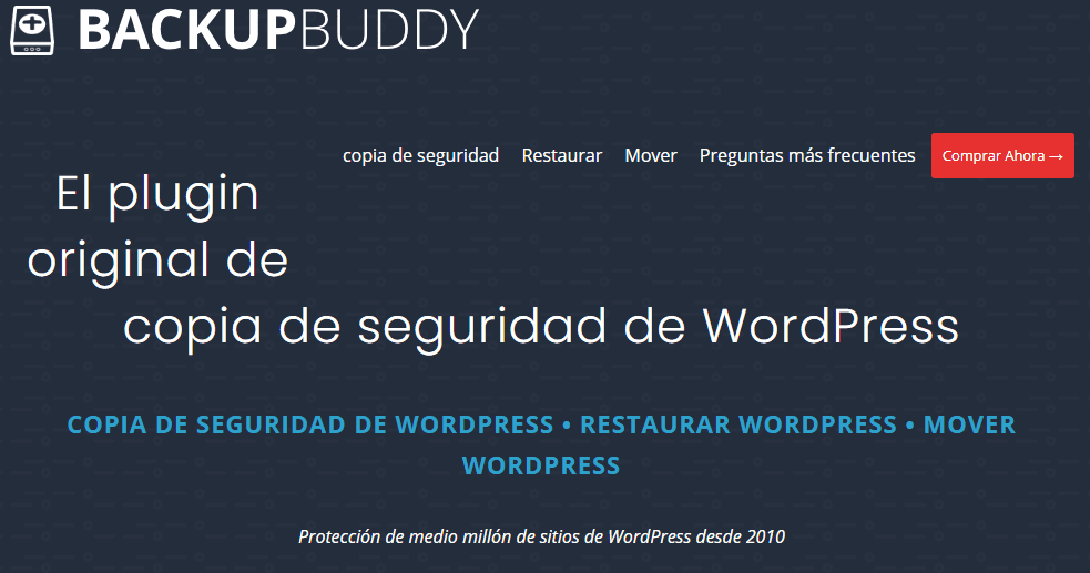 backupbuddy - seguridad wordpress