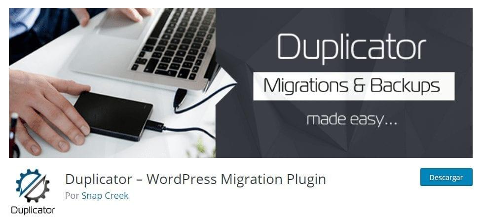 plugin Duplicator - seguridad para WordPress